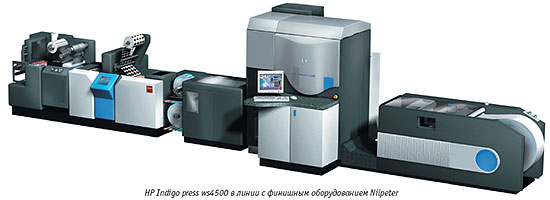 Принцип работы HP Indigo ws4000 основан на технологии цифровой офсетной печати (жидкостная электрофотография).